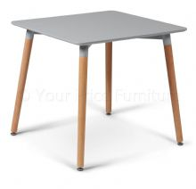 Eiffel Grey Designer Dining Table Small Square 80cms